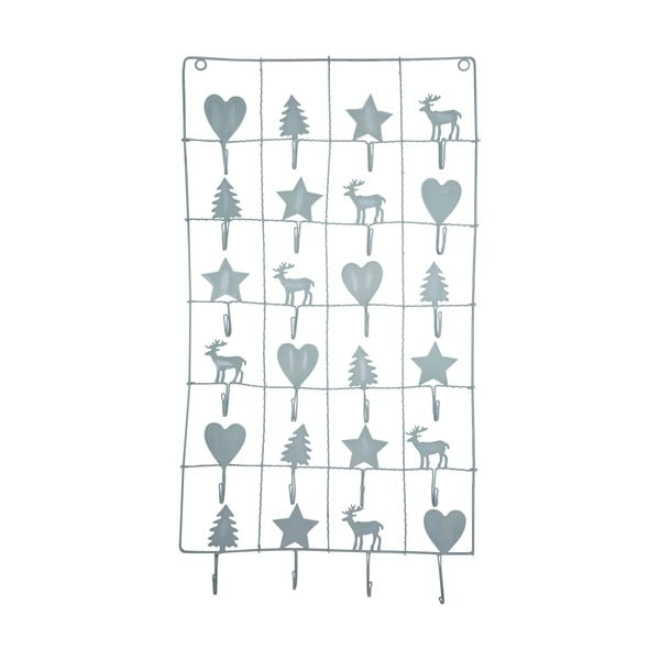 Calendar metalic advent Green Gate, lungime 71 cm, gri