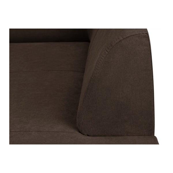 Tmavě hnědá rohová rozkládací pohovka s úložným prostorem Kooko Home XL Right Corner Sofa Piano