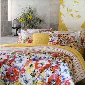 Povlečení Colourful Flowers s prostěradlem, 200x220 cm