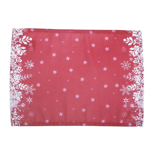 Sada 2 červených prestieraní s vianočným motívom Apolena Honey Snowflakes, 33×45 cm
