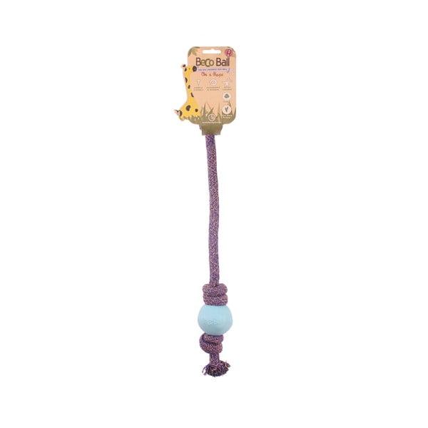 Provaz s míčkem na hraní Beco Rope 40 cm, modrý
