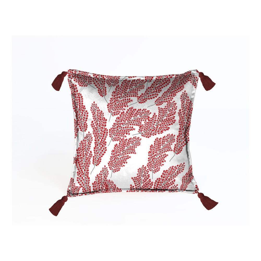 Červený dekorativní polštář Velvet Atelier, 45 x 45 cm