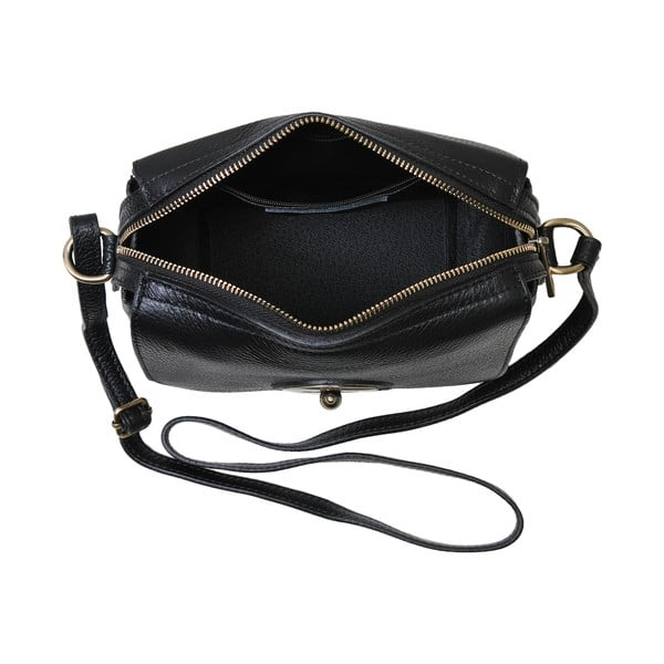 Černá kabelka z pravé kůže Andrea Cardone Alessio
