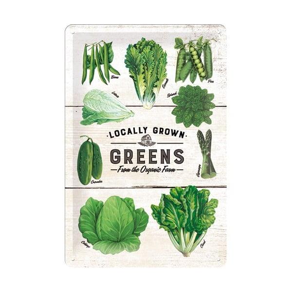 Plechová cedule Vegetables, 20x30 cm