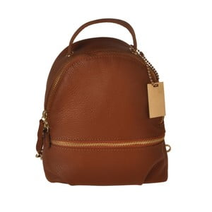 Hnědý kožený batoh Matilde Costa Gent