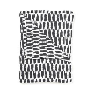 Pléd Home Collection Paint stripe black, 130x170 cm