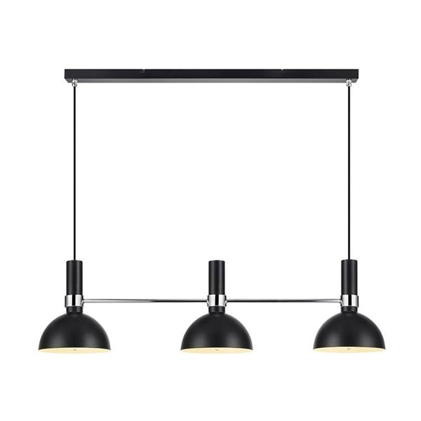 Czarna potrójna lampa wisząca Markslöjd Larry