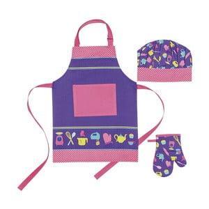 Dětská sada zástěry, čepice a kuchyňské rukavice I Love Baking