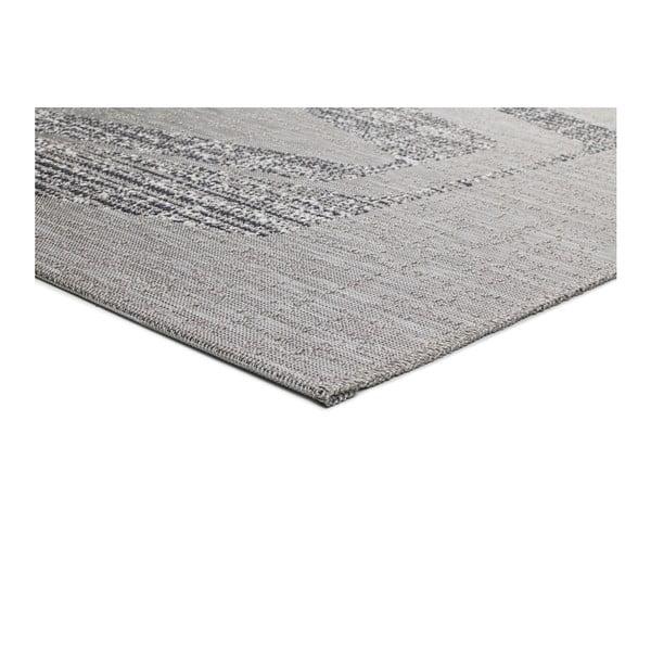Šedý koberec vhodný i na ven Weave Mujro, 130 x 190 cm
