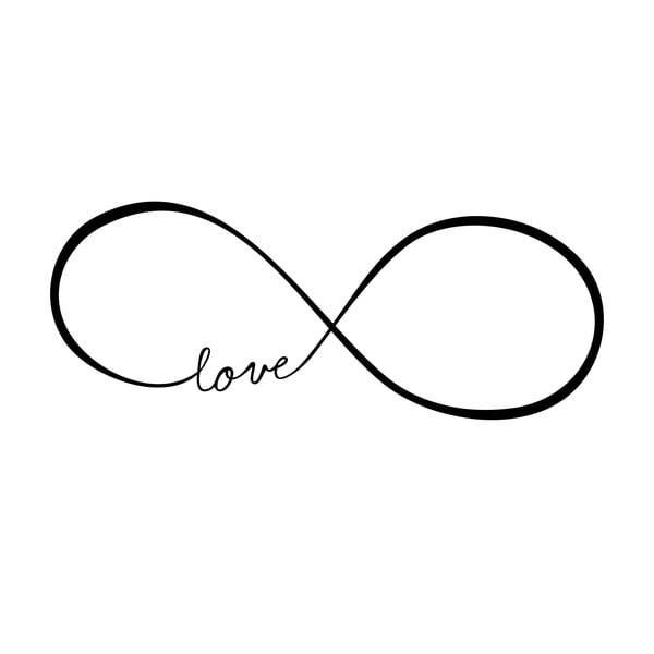 Samolepka na stěnu Love Infinity