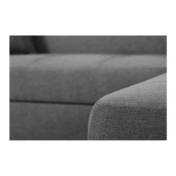 Tmavě šedá sedačka Interieur De Famille Paris Bijou, pravý roh
