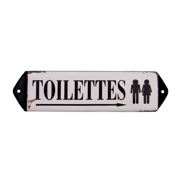 Toilettes dekorációs WC tábla - Antic Line