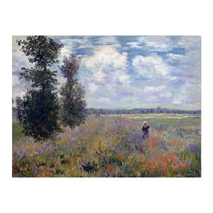 Tablou Claude Monet - Poppy Fields near Argenteuil, 80x60 cm