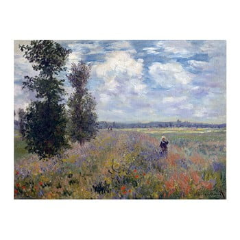 Reproducere tablou Claude Monet – Poppy Fields near Argenteuil, 40×30 cm de la Fedkolor