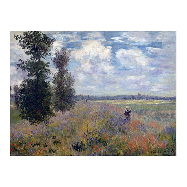 Tablou Claude Monet - Poppy Fields near Argenteuil, 40x30 cm