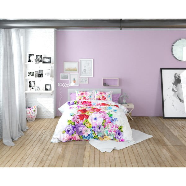 Lenjerie de pat din bumbac Dreamhouse So Cute Floortje, 140 x 220 cm