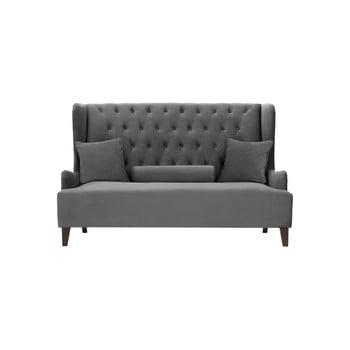 Canapea cu 2 locuri Rodier Intérieus Flanelle, gri închis