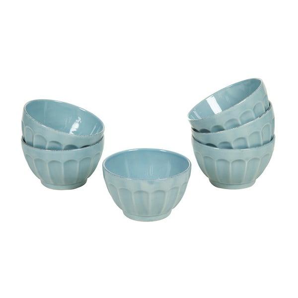 Set 6 boluri din ceramică Santiago Pons Ribbing, ⌀ 14 cm, albastru