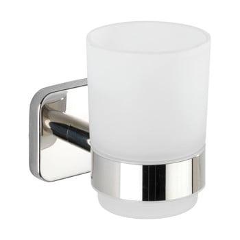 Recipient de perete pentru periuțe de dinți cu suport din oțel inoxidabil Wenko Mezzano, alb imagine