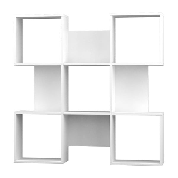 Knihovna Quat 120x120 cm, bílá