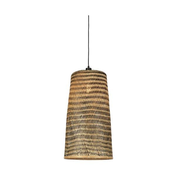Závesné bambusové svietidlo Good&Mojo Kalimantan, ⌀ 37 cm