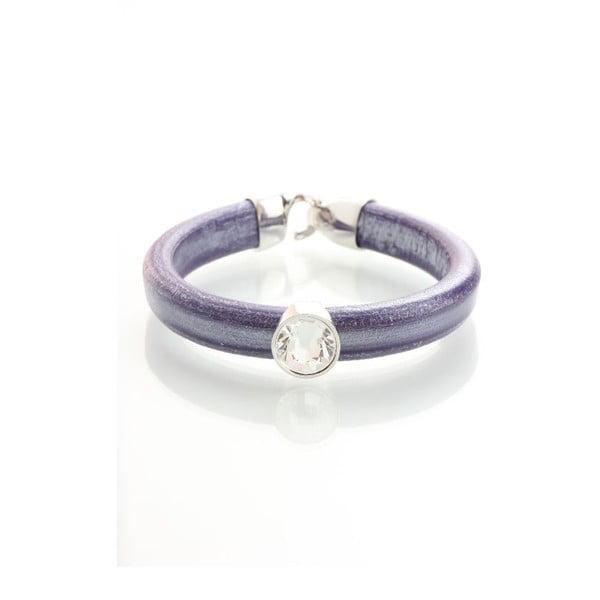 Fialový náramek se Swarovski krystaly Yasmine Clap