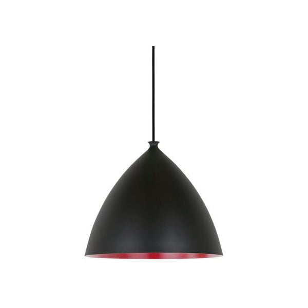 Závěsné svítidlo Slope 35 cm, černé/červené