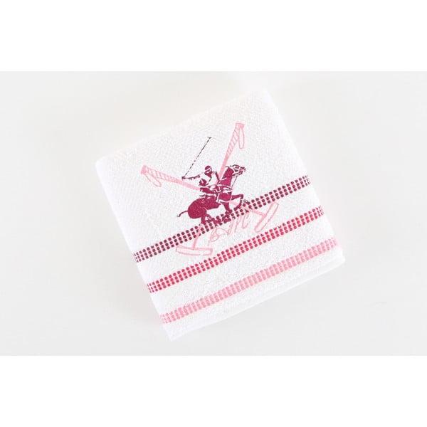Bílo-růžový bavlněný ručník BHPC Special, 50x100 cm