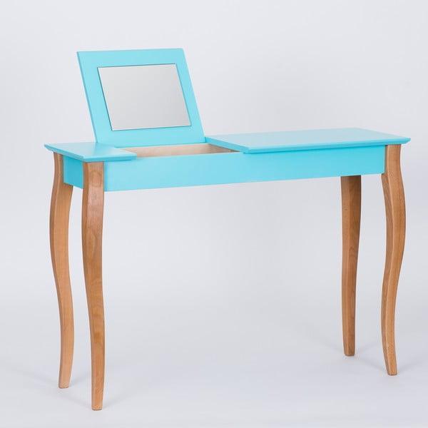 Tmavě tyrkysový toaletní stolek se zrcadlem Ragaba Dressing Table,délka105cm