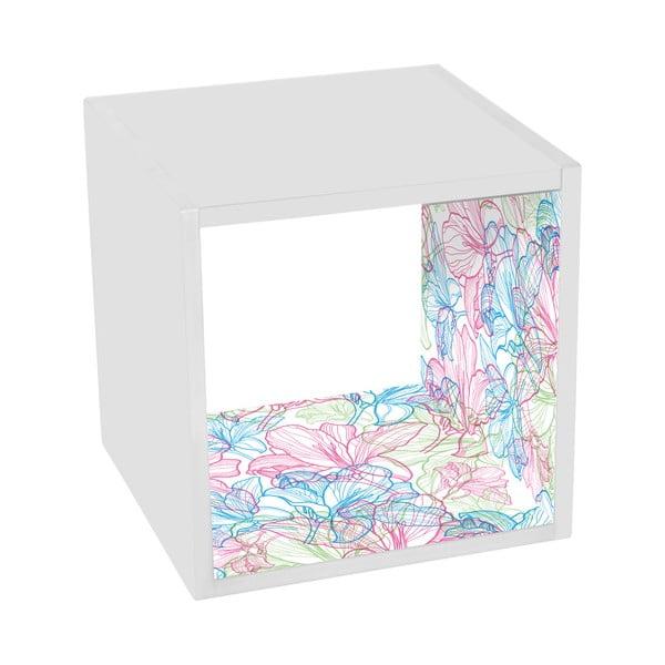 Odkládací stolek Flowers In White
