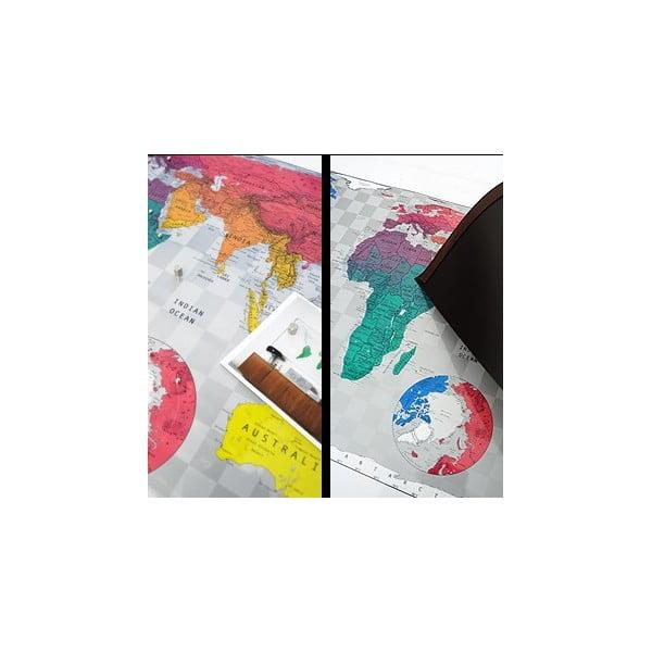 Magnetická mapa světa The Future Mapping Company Future World Map, 101x58cm
