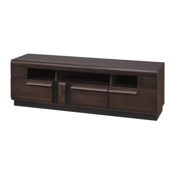 TV stolík s 3 šuplíky Szynaka Meble Porti Dark Chocolate