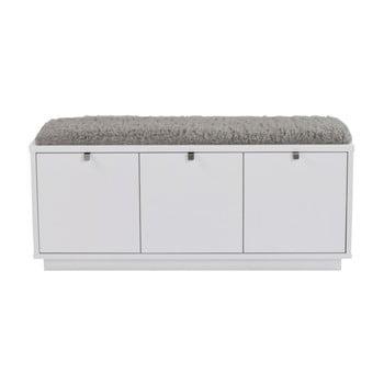 Bancă cu spațiu pentru depozitare și șezut gri Rowico Confetti, lățime 106cm, alb imagine