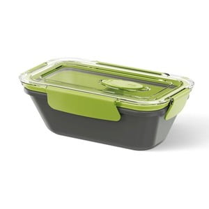 Box na jídlo Rectangular Black/Green, 0,5 l