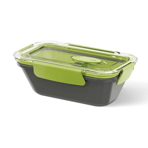 Box na jídlo Rectangular Black/Green, 0,5 l