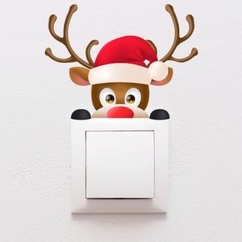 Autocolant de perete Ambiance Christmas, 10 x 13 cm imagine