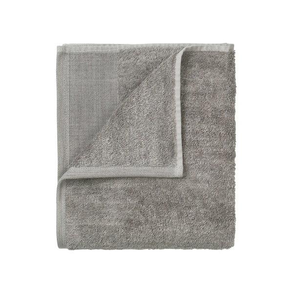 Sada 4 šedých bavlněných ručníků Blomus, 30x30cm