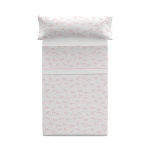 Set povlaku na polštář a prostěradla Pooch Paper Dreams Coral, 110x45cm