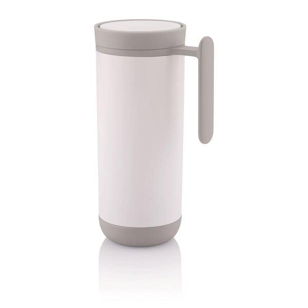 Bílý cestovní termohrnek s ouškem XD Design Clik,225ml
