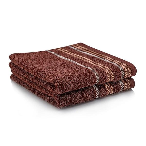 Sada dvou ručníků Hugo 50x90 cm, brown