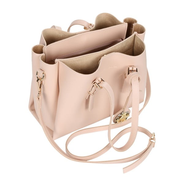 Pudrově růžová kabelka Beverly Hills Polo Club Alicia