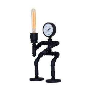 Kovová černá stolní lampa Warrior Design