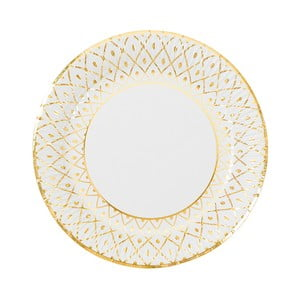 Sada 8 pevných papírových talířů s dekorativním motivem Talking Tables, střední velikost