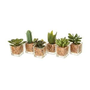 Sada 6 umělých dekorací ve tvaru kaktusu Unimasa