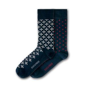 Sada 2 párů ponožek Black&Parker London Frogmore, velikost 37 – 43