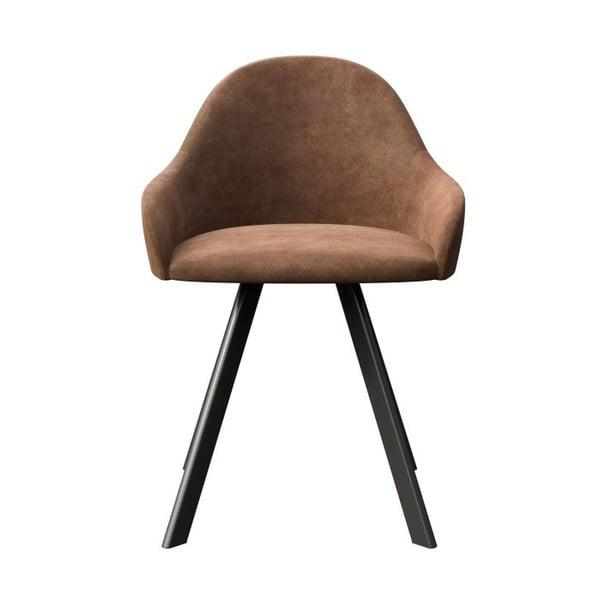 Hnedá jedálenská stolička s čiernymi nohami MESONICA Brook