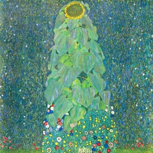 Reproducere tablou Gustav Klimt - The Sunflower, 60 x 60 cm