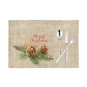 Sada 2 vánočních prostírání Apolena Honey Merry, 43x43cm