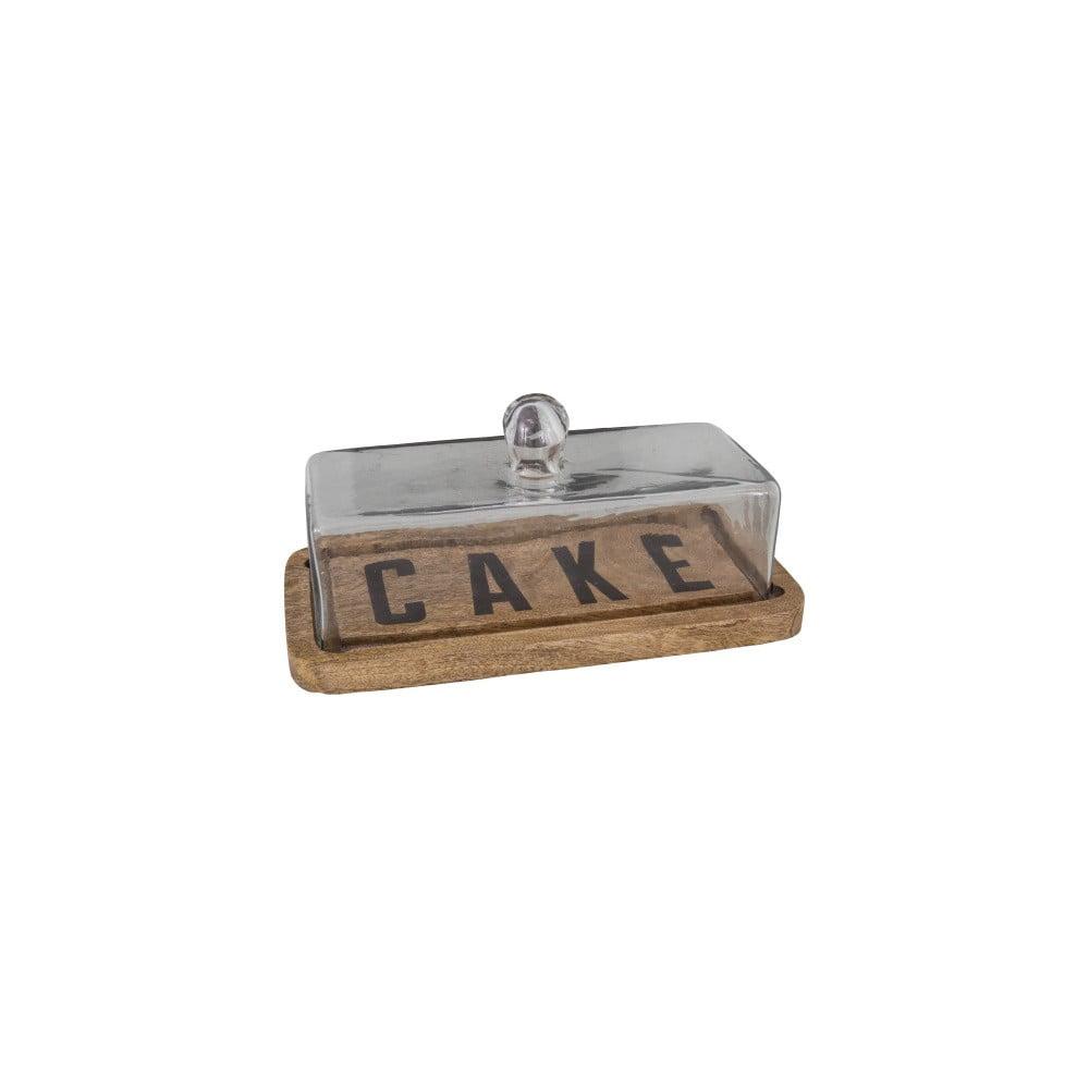 Produktové foto Dřevěný podnos na dort se skleněným poklopem Antic Line Cake