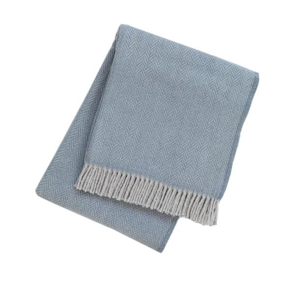 Modrý pléd s podielom bavlny Euromant Skyline, 140 x 180 cm